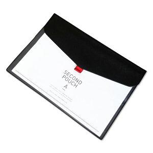 A4サイズ ファイルケース ポーチ マスクケース 約32×23cm 大容量 2層式 クリアポケット付 封筒型 面ファスナー式 軽量 多目的 書類 ドキュメント MOT-EBEST3223