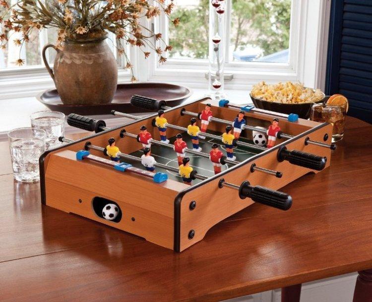 テーブルサッカーゲーム 木製筐体 6×6 本格的 卓上フーズボール OGB332