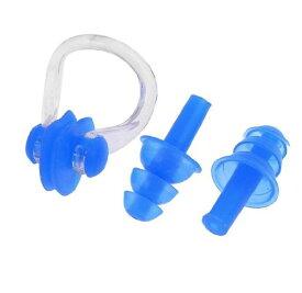 耳栓、鼻栓セット シリコーン製 防音防水耳栓 スイミング・シャワー・ウォータースポーツ用 ケース付 汎用耳栓、鼻栓セット KHM02