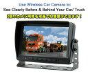 無線バックカメラセット(カメラ2台) 防水仕様カメラ2台付 暗視機能 映像入力2系統 大型車にお勧め 12/24V対応 受信用7インチモニター WS7016