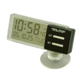 槌屋ヤック/YAC:自動車用シースルークロック 時計 透過液晶採用 吸盤取付タイプ/PZ-372/