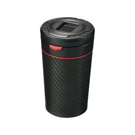 灰皿 Sports Luxury カーボン調 レッド オートクリーニング構造で灰詰まり防止/カーメイト/CARMATE:DZ354