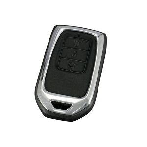 【3/1限定!ポイント最大22倍】スマートキーカバー ホンダ HN3 HONDA ハードタイプ2 メタルフレーム 専用設計 簡単装着 鍵 保護 車用品/ヤック ZE-13