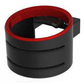 コンビニコーヒー 600mlペットボトル対応 自動車用 マットブラックドリンクホルダー ブラック/レッド DK-1819 シックスフィーリング