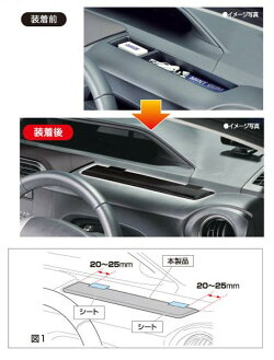 カーメイト10系アクア専用メーターサイドボックス用カバーブラックNZ529/アクア(NHP10系/平成23年12月〜)