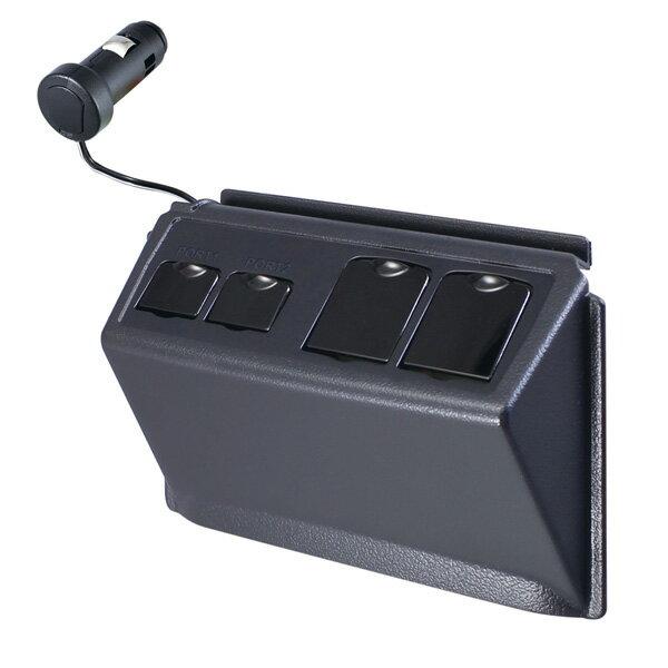槌屋ヤック/YAC:80系ノア・ヴォクシー専用設計 増設USBポート+アクセサリーソケット NOAH・VOXY/SY-NV3/