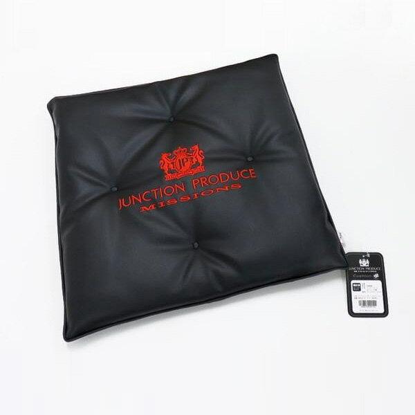 レザークッション ブラック/レッド 45×45cm JUNCTION PRODUCE MISSIONS/ジャンクション プロデュース:GM034114