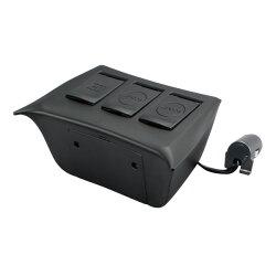 ヤック:電源BOXプリウスZVW50系車種専用携帯スマホ充電ソケットUSBPrius/SY-P8