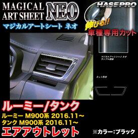 ハセプロ MSN-AOT21 ルーミー/タンク M900系 H28.11〜 マジカルアートシートNEO エアアウトレット ブラック カーボン調シート