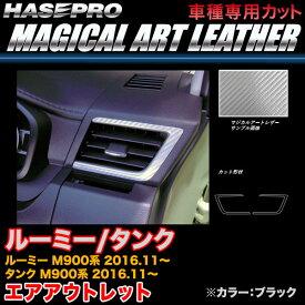 ハセプロ LC-AOT21 ルーミー/タンク M900系 H28.11〜 マジカルアートレザー エアアウトレット ブラック カーボン調シート