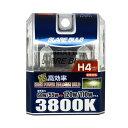 ハロゲンバルブ H4 3800K スーパーピュアホワイト 車検対応 120W/110Wクラス 車/ブレイス BE-303