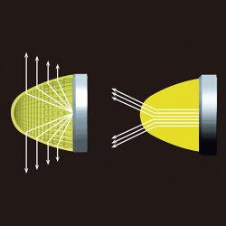 【10個セット】トラッククロスラインマーカーイエローDC12V/24V対応光源LED使用アクリル製/ヤックCE-171