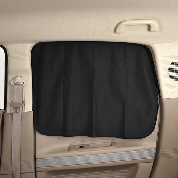 楽らくマグネットカーテン Lサイズ ブラック 2枚入り マグネット取り付け 紫外線カット率99% H520×W800×D2mm セイワ Z87