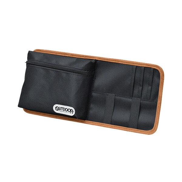 サンバイザーポケット for car 小物収納 大型バイザー対応 ブラック セイワ OD19