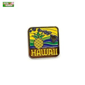 ハワイアン ピンバッジ パイナップルアイランド バッジ かばんやキャップ帽などに ハワイ お土産 PICK The HAWAII BL-PB-PNI