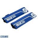 スパルコ/sparco CORSA:ショルダーパッド シートベルトパッド ブルー Sマーク 2個セット/SPC1200