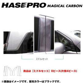 ハセプロ マジカルカーボン ブラック ピラーセット ミドルセット N-WGN/N-WGNカスタム JH1 年式:H25/11 CPH-M58