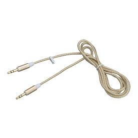 オーディオケーブル AUX 4 1m 高音質 接続機器の音楽再生 ステレオミニジャック ゴールド SEIWA/セイワ:M149