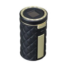 セイワ:ラクすてソーラーアッシュ キルト ブラック×ゴールド 車用 灰皿 消火穴自動クリーン機能/W912