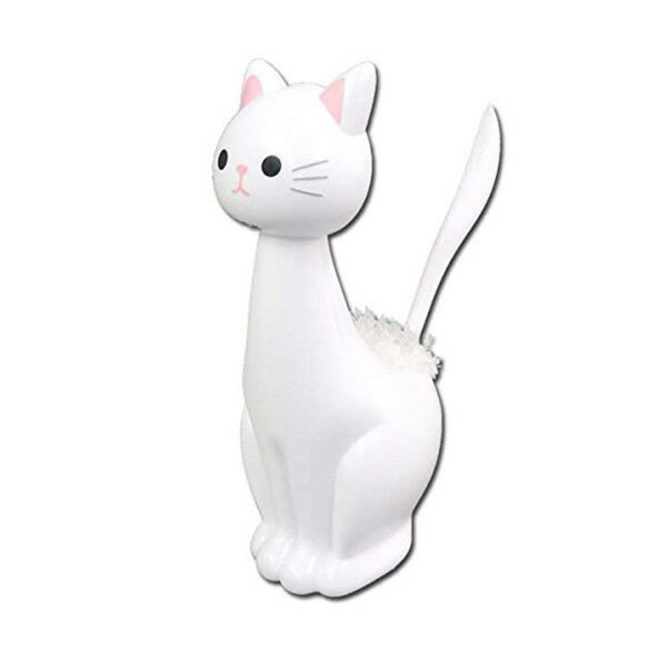 明邦/MEIHO 猫 ねこ スタンドモップ シロ ねこのしっぽの物語 ME169