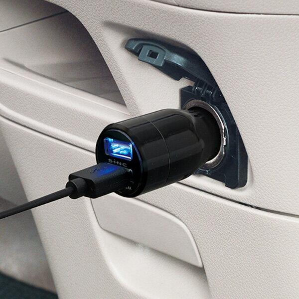 セイワ AUXステレオカースピーカー ブラック USBポート付 ブルーLED搭載 イヤホン出力端子接続 φ3.5mmステレオミニプラグ M156