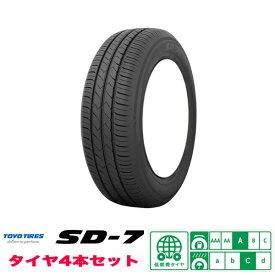トーヨー / TOYO SD-7 乗用車用低燃費タイヤ 夏タイヤ 185/65R14 4本セット