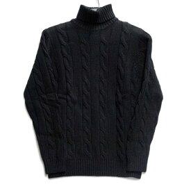 AEROPOSTALE(エアロポステール) メンズ タートルネックセーター ケーブル編み ブラック