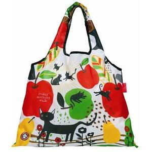 エコバッグ ショッピングバッグ 猫 りんご 洋ナシ レジ袋 クリックポスト選択可能 敬老の日 ギフト好適品