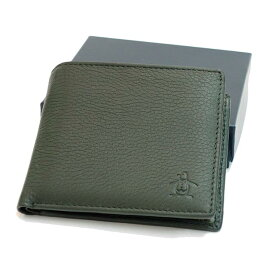 Munsingwear ( マンシングウェア ) 二つ折り本革財布 グリーン バレンタインギフト好適品