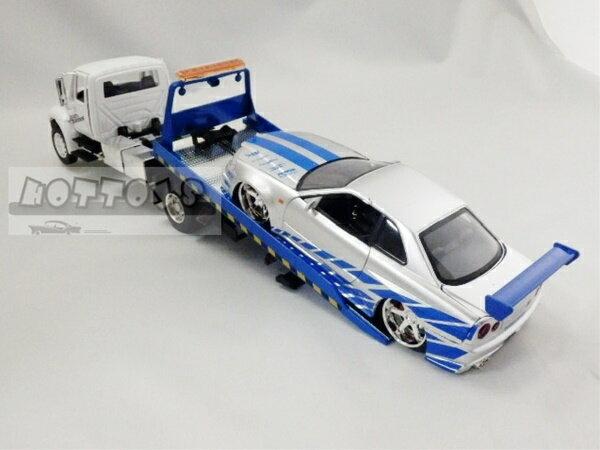 ワイルドスピードミニカー 1/24 JadaTOYS☆ワイルドスピード 積載車(1台積載) 白 【予約商品】