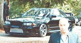 ワイルドスピードミニカー 1/43 GreenLight☆ワイルドスピード7 1989 スカイライン GTR 黒 カスタム仕様! 【予約商品】ポイント5倍