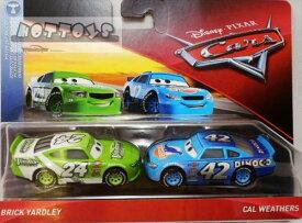 ◎ディズニーカーズ ミニカー/マテル製 BRICK YARDLEY とCAL WETHERSの2台セット  カーズ おもちゃ 【予約商品】