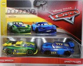 ◎ディズニーカーズ ミニカー/マテル製 ERICK BRAKERとSPIKEY FILLUPSの2台セット  カーズ おもちゃ