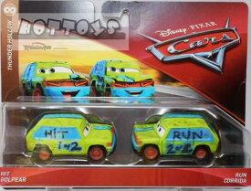 ◎ディズニーカーズ ミニカー/マテル製 HIT GOLPEAR と RUN CORRIDAの2台セット  カーズ おもちゃ 【予約商品】