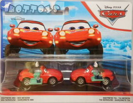◎ディズニーカーズ ミニカー/マテル製 ミア&ティア(トレイとジュース付)の2台セット  カーズ おもちゃ 【予約商品】
