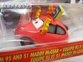 ◎ディズニーカーズ ミニカー/マテル製 TEAM95と51のマディ・マックギア  カーズ おもちゃ 【予約商品】