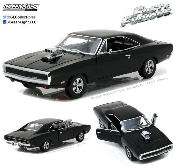 ワイルドスピードミニカー 1/18 GreenLight☆ワイルドスピード  1970 ダッジ・チャージャー 黒【予約商品】ポイント5倍