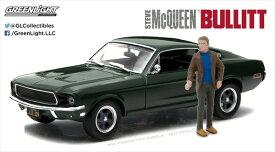 ミニカー 1/43 GREENLIGHT☆ブリット♪ 1968 マスタング スティーブ マックイーンフィギュア付き! ブリット仕様【予約商品】