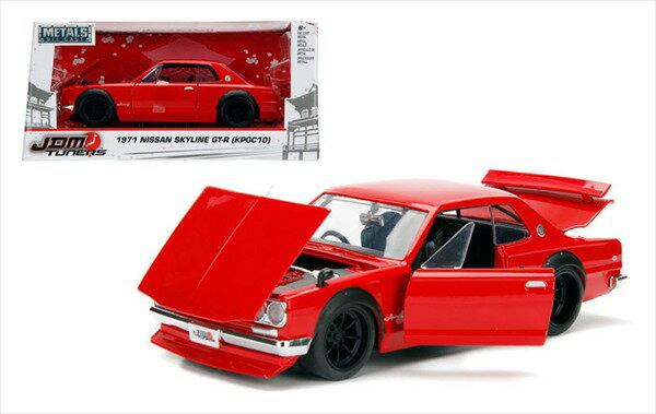 ワイルドスピードミニカー 1/24 JadaTOYS☆ スカイラインGTR 2000GTR 赤 ハコスカ 【予約商品】