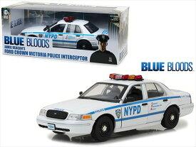 ミニカー 1/18 GREENLIGHT☆パトカー ハイウェイパトロール フォード・クラウンビクトリア・インターセプター「NYPD パトカー」黒/白 【予約商品】