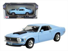 ミニカー 1/18 MOTORMAX☆1970 マスタング Mustang Boss 青色【予約商品】
