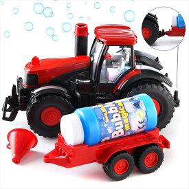 シャボン玉を出しながら走る♪ トラクタートラック♪