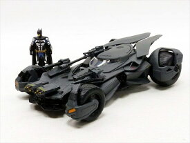 ミニカー 1/24 JadaTOYS/ バットマン バットモービル ジャスティスリーグ バットマンフィギュア付き♪【予約商品】