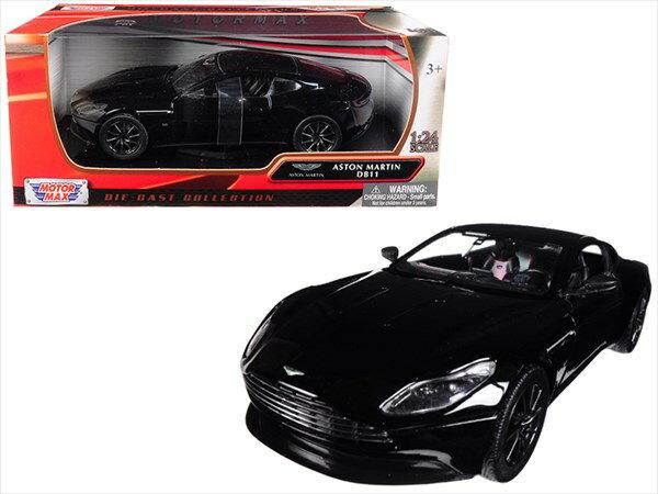 ミニカー 1/24 MOTORMAX☆アストンマーチン DB11 黒色【予約商品】