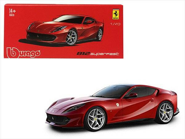 フェラーリ ミニカー■ブラゴsignature■1/43 フェラーリ 812 Superfast 赤【予約商品】