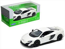 ミニカー 1/24 WELLY☆マクラーレン 675LT 白色   特別限定モデル!【予約商品】