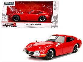 ミニカー 1/24 JadaTOYS☆1967 トヨタ2000GT JDM TUNERS 赤 限定モデル【予約商品】