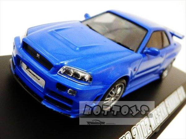ワイルドスピードミニカー 1/43 GreenLight☆ワイルドスピードMAX  2002 スカイライン GTR ブルー 【入荷しました!】ポイント5倍