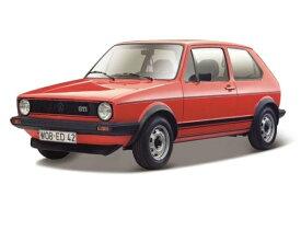 ミニカー 1/24■ブラゴ■1979 VW フォルクスワーゲン ゴルフMk1 GTI 赤 BBURAGO【予約商品】