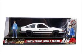 ミニカー 1/24 JadaTOYS 頭文字D イニシャルD トヨタ スプリンター トレノ AE86 藤原拓海のフィギュア付き 予約商品